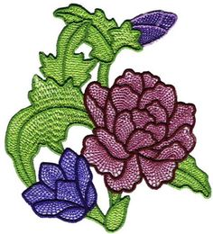 Beautiful Flowers - Machine Embroidery Designs by Embroidery Emotions, via Behance