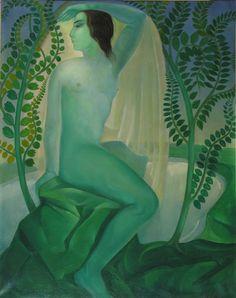 thecaucasus: Lado Gudiashvili, Spring. (The Green woman). 1920...