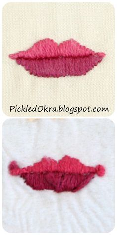 4 of 4 For the mouth, I used a satin stitch again. Pickled Okra by Charlie: Embroidering a Doll's Face: another free pattern & tutorial