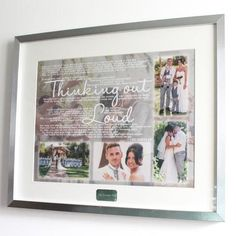 Do you want your favourite song, first dance, memorable lyrics turning into a piece of wall art with your photo's included? Let us know the Artist & Song and email...