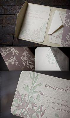 Shakespeare Wedding Invitation Suite by Kristen O Callaghan via