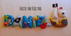Faite un Fieltro: NOMBRE DANIEL Felt Name Banner, Name Bunting, Felt Letters, Felt Wreath, Felt Garland, Sewing Projects For Kids, Projects To Try, Felt Crafts Diy, Baby Banners