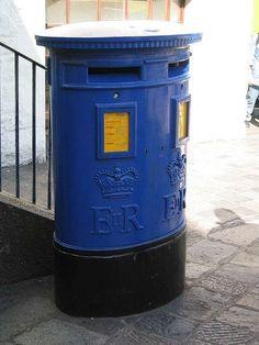 A Guernsey Post pillar box.  Guernsey