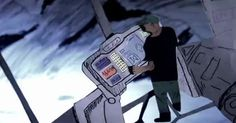 MAKE | Paper Animation of Prometheus Trailer    Wow - what a work