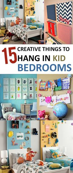Hang these totally kid friendly decorations in your children's bedrooms!