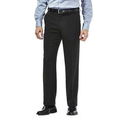 Men's Haggar® Tailored-Fit Travel Performance Suit Pants, Size: 32X32, Oxford