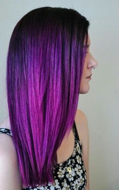 Purple/violet hair color