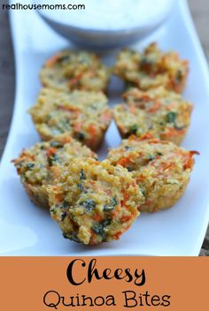 Cheesy Quinoa Bites 2 with added veggies