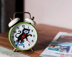 Alarm clock puss by LadyOldies on Etsy