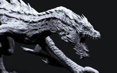 Concept art and of using the sculpting Creature Concept Art, Creature Design, Chromatic Dragon, Cool Dragons, Monster Design, Dragon Slayer, White Dragon, Inspirational Artwork, Dragon Art