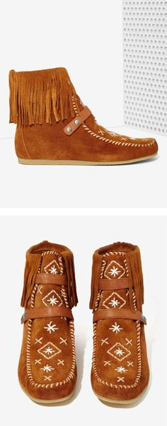Suede Moccasin Booties
