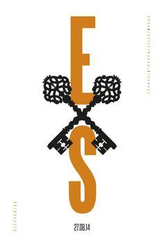 """Die Hochzeit öffnet eurer Beziehung neue Türen. Dafür stehen die im Vintage-Stil gehaltenen """"Wedding Keys"""" auf dem gleichnamigen Poster, die eure Initialen zu einer Einheit werden lassen. Ein zusätzlicher Blickfang ist das kleine Alphabet am rechten oberen Bildrand, in dem die Anfangsbuchstaben eurer Namen hervorgehoben sind. Gedruckt werden die Fine-Art-Prints auf feinstem Hahnemühlepapier.  #wedding #hochzeit #artprint #type #tyopgrafie #typography #fineart #bronze #initialen #schlüssel…"""
