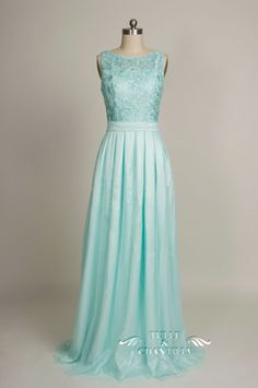 vintage lace mint blue bridesmaid dress with chiffon skirt for 2016 weddings