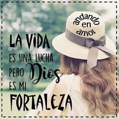 """""""Mi Señor, mi fortaleza, ¡yo te amo! Mi Señor y Dios, tú eres mi roca, mi defensor, ¡mi libertador! Tú eres mi fuerza y mi escudo, mi poderosa salvación, mi alto refugio ¡En ti confío!"""" (Salmo 18:1,2) Dios es mi #fortaleza #fuerza #DiosesAmor #Diosmifuerza #PoderosoDios #Cristianos #Biblia #PalabradeDios #Reflexiones #frases #Consejo #mensajespositivos #creatividad #AndandoEnAmor Feliz tarde! Bendiciones"""