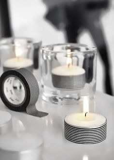 Whasy tape candles