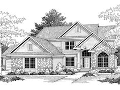 Tour the Cozette Two-Story Home that has 4 bedrooms, 2 full baths and 1 half bath from House Plans and More. See highlights for Plan Dream House Drawing, House Design Drawing, House Sketch, Architecture Drawing Art, Architecture Sketchbook, Architecture Design, Two Story House Plans, House Plans And More, Building Drawing