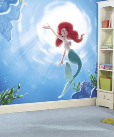Love this Disney Princess The Little Mermaid Wallpaper Mural on #zulily! #zulilyfinds