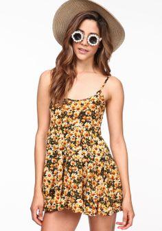 Sunflower Babydoll Dress - Love Culture