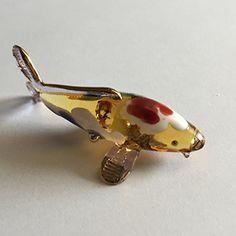 Figurine Animal Miniature Hand Blown Glass Koi./Fish. | Art and ...