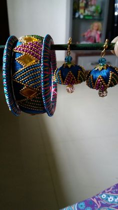 Silk thread bangles &jhumkas