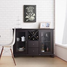 Furniture of America Synthie Cappuccino Multi-Storage Dining Buffet - 16769643 - Overstock.com Shopping - Big Discounts on Furniture of America Buffets