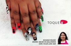 Noche de halloween de Rosario Toledo #nailart #ToqueX
