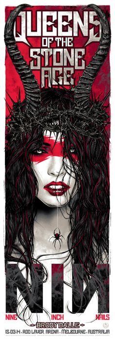 Queens of the Stone Age and Nine Inch Nails (Melbourne) Poster by Rhys Cooper (via OMG Posters)