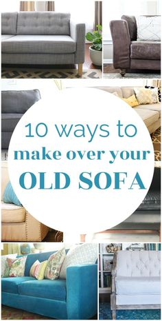 There are plenty of ways to update your old sofa. From quick and easy fixes to more permanent solutions, there is a solution for every old couch. Affordable Rugs, Affordable Home Decor, Cheap Home Decor, Diy Furniture Easy, Furniture Makeover, Furniture Ideas, Furniture Refinishing, Home Design Diy, Diy Sofa