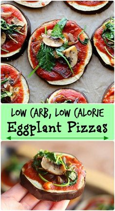 Low carb, low calorie vegetable-based pizzas!