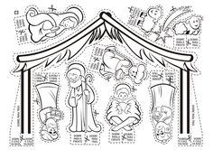 Tallita y las clases de religión: Pesebre para cortar y colorear...
