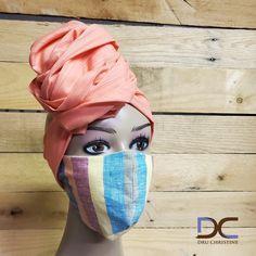 Head Scarf + Striped Mask