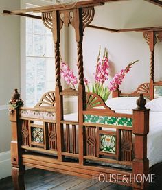 Early 1800s teak village bed from Rajasthan, India. Photo Gallery: 100+ Gorgeous Bedrooms | House & Home