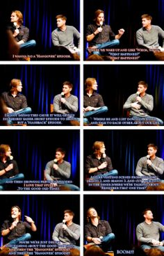 [gifset] #Jensen and #Jared on what kind of episode they would want to do.