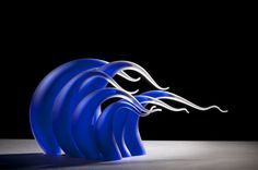 Incredible blown glass sculptures fashioned to look like ocean waves | Creative Boom