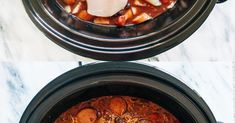 All of these can also be made in an Instant Pot. Easy Soup Recipes, Delicious Dinner Recipes, Easy Chicken Recipes, Crockpot Dishes, Crock Pot Cooking, Sausage Crockpot, Slow Cooker Recipes, Crockpot Recipes, Cooking Recipes