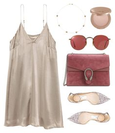"""""""#127"""" by minia001 ❤ liked on Polyvore featuring Gucci, Ray-Ban, Alison Lou, tarte and Jimmy Choo"""