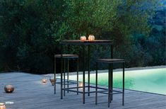 Home Stainless Steel Outdoor Patio Pool Bar Stool Viteo Pool Bar, Outdoor Settings, Home Collections, Cosy, Teak, Bar Stools, Patio, Connection, Tables