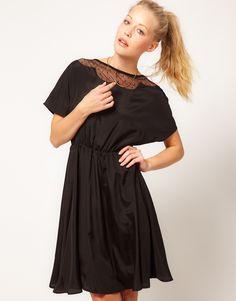 Glamorous Scalloped Mesh Insert Collar Dress.. simply simple!