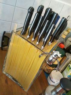 Spaghetti-Messerblock
