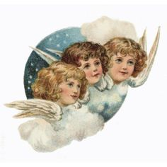 Vintage Christmas angels.