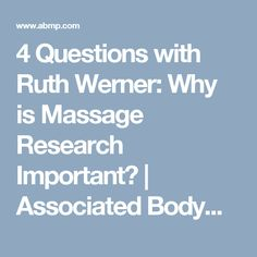 Massage Therapy interesting nursing research topics