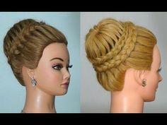 Прическа с плетением на длинные волосы! Hairstyle for long hair!