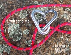 Valentine greeting for climbers.
