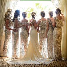 High Quality Custom Made Bridesmaid dress,Sequin Bridesmaid Dress,Bridesmaid