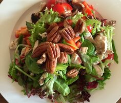 Chicken, bacon and peacan salad
