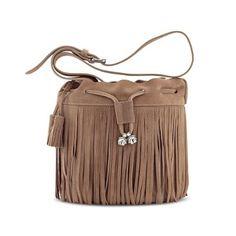 Shoulder strap bag Shoulder Strap Bag, Fringes, Bucket Bag, Taupe, Spring, Womens Fashion, Summer, Bags, Collection
