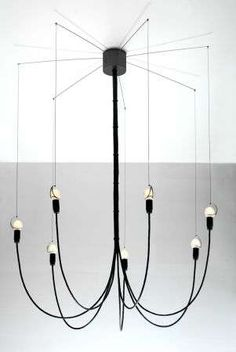 Stringy Chandeliers - Tim Baute Creates Delicate Looking Lighting Called 'SevenUp' (GALLERY)