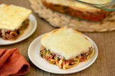 Hungry Girl's Healthy Lasagna Z'paghetti Bake Recipe---> Replace ricotta with cottage cheese Ww Recipes, Low Carb Recipes, Cooking Recipes, Healthy Recipes, Skinnytaste Recipes, Lasagna Recipes, Lamb Recipes, Noodle Recipes, Vegetarian Recipes