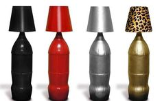 lámparas de botes de plástico