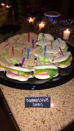 Fun Pure Romance party ideas! Submissive Subs